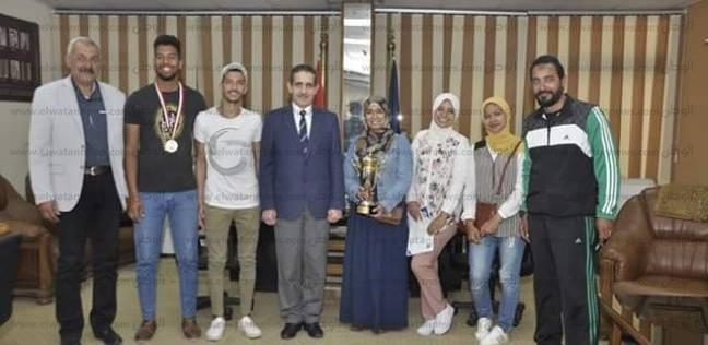 """""""القناة"""" تكرم الفائزين بمهرجان كرة السرعة للجامعات المصرية"""