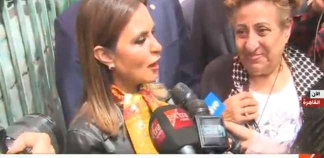 وزيرة الاستثمار بعد الإدلاء بصوتها: مشاركة كبيرة من جميع الفئات
