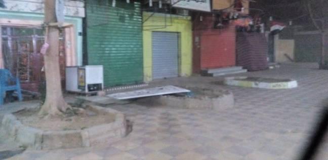 المحلات التجارية بالوادي الجديد تغلق أبوابها بسبب العاصفة الترابية