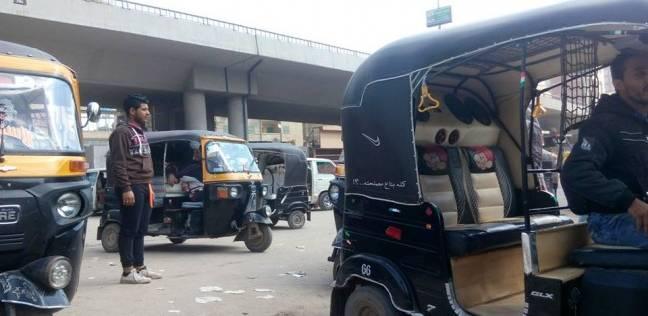 """حجز 31 """"توك توك"""" في حملات مرورية مكبرة بالقاهرة"""