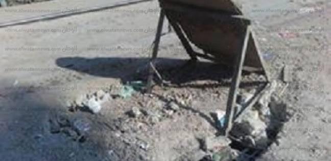 انهيار جزء من كوبري يربط مركز ملوي بـ40 قرية
