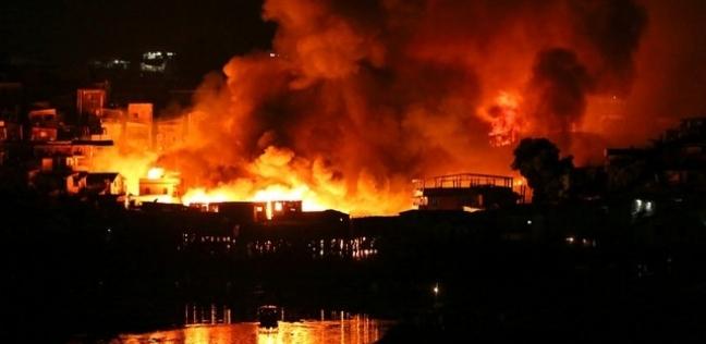 اندلاع حريق هائل بمستودع جنوب لندن والسلطات تدفع بـ20 عربة إطفاء