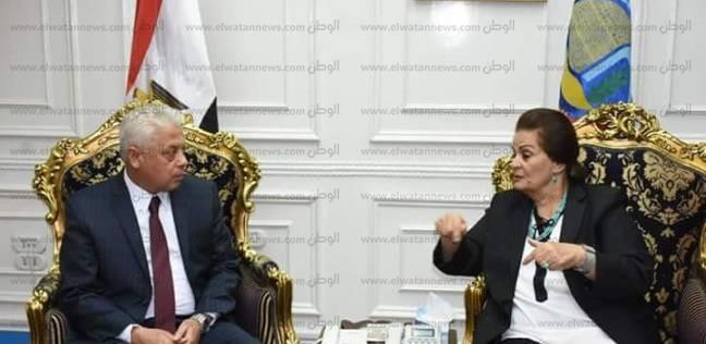 محافظ البحيرة تبحث استرداد أملاك الدولة معمدير الأمن الجديد