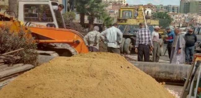 بدء تجديد شبكة الصرف الصحي بعزبة عبد المنعم رياض بالإسكندرية