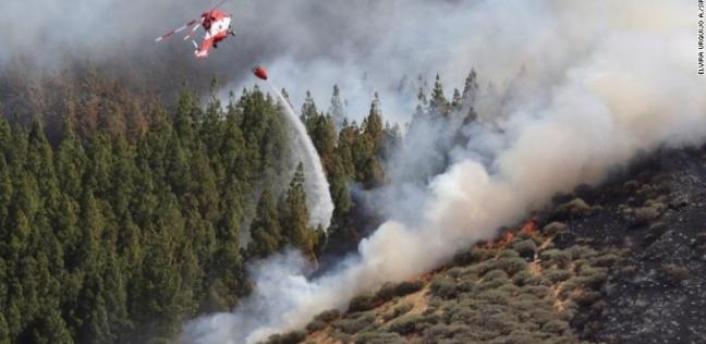 إخماد حريق نشب في جزيرة كناريا الكبرى بأرخبيل الكناري الإسباني