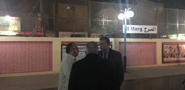 وزير النقل يتابع أعمال ازدواج المسافة بين محطتي المرج القديمة والجديدة