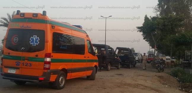 إصابة 5 أفراد في تصادم 3 سيارات ملاكي بسوهاج