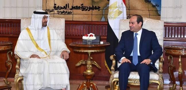 ولي عهد أبوظبي لـ السيسي: مصر ركيزة للاستقرار والسلام والأمن بالمنطقة