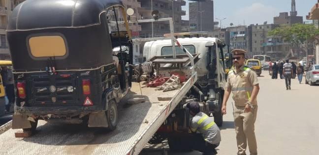 رفع 38 سيارة ودراجة نارية متروكين في الشوارع والطرق الرئيسية بالقاهرة