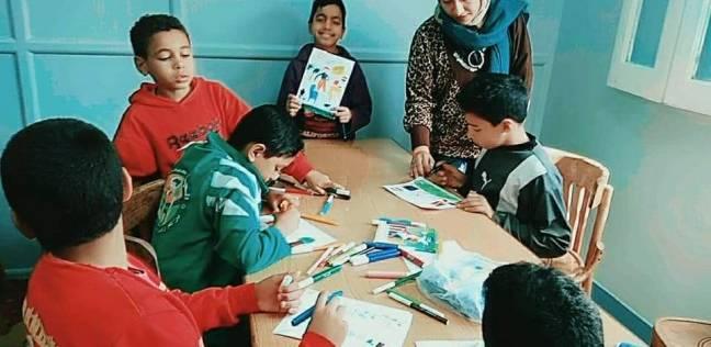 ورش فنية لقصر ثقافة الطفل بدار الهنا لرعاية الأطفال