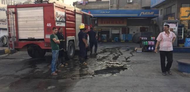 """""""الحماية المدنية"""" تسيطر على حريق شب في محطة وقود بميت غمر"""
