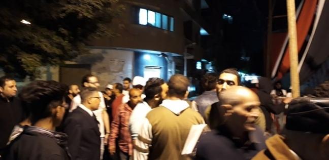 بالصور| رغم شدة الرياح.. تكدس أمام لجنة عثمان بن عفان في شبرا