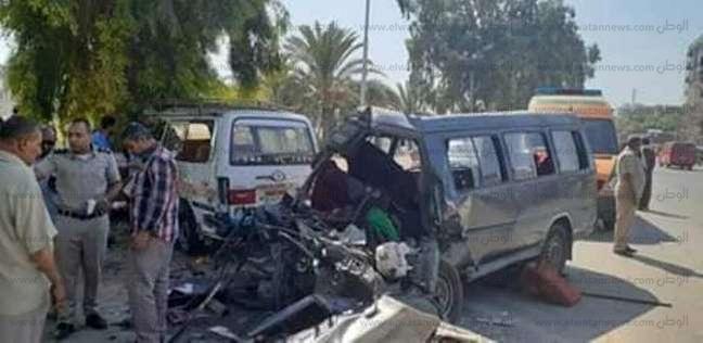 أول فيديو للحظة وفاة طالب الثانوية في حادث تصادم على طريق أسيوط