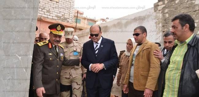 محافظ مطروح وقائد المنطقة الغربية العسكرية يتفقدان منطقة الطابية العشوائية
