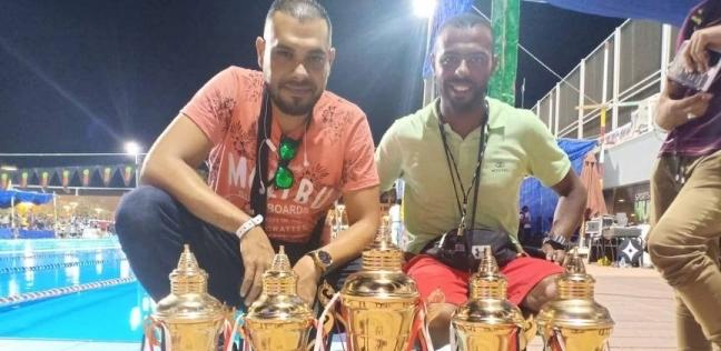 نادي المنيا يحصد 72 ميدالية و9 كؤوس في بطولة الصعيد للسباحة