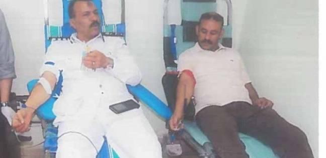 """""""الأحوال المدنية"""" تشارك في حملة التبرع بالدم لصالح """"قصر العيني"""""""