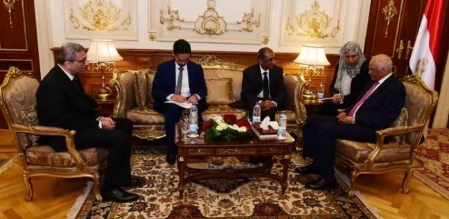 على عبدالعال يستقبل السفير الهندي بالقاهرة