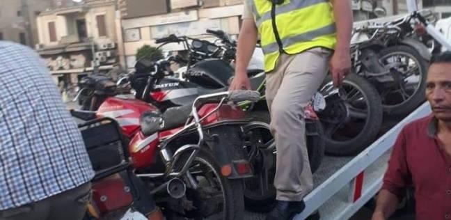 ضبط 120دراجة نارية غير مرخصة في حملة مرورية بالسويس
