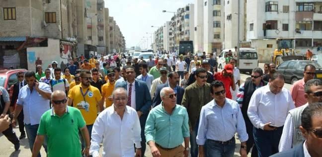 وزير الشباب يتفقد الأعمال الإنشائية لمركز شباب الشيخ زايد في بورسعيد
