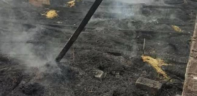 نفوق 6 رؤوس ماشية في حريق هائل بحظيرة في مركز الشهداء