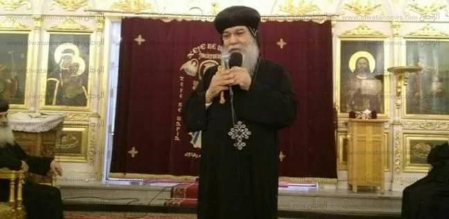 الأنبا مكاريوس ينفي محاولة تفجير كنيسة قرية نزلة عبيد في المنيا