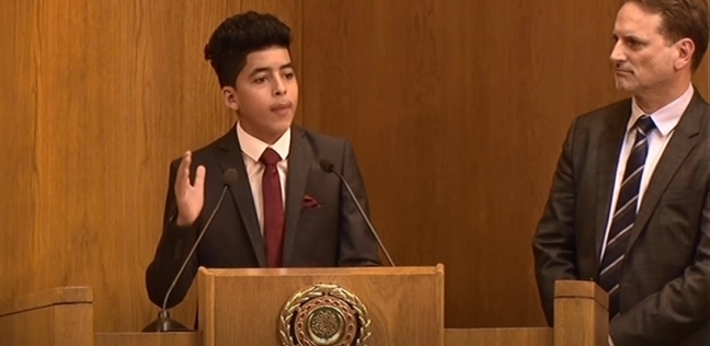"""الفتى الفلسطيني باجتماع الجامعة العربية لـ""""الوطن"""": لدينا أحلام وحقوق"""