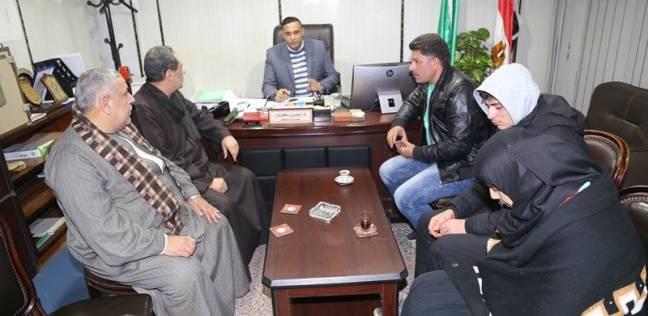 """سكرتير محافظة المنوفية يستقبل أسرة ضحية حادث """"أسانسير بنها"""""""
