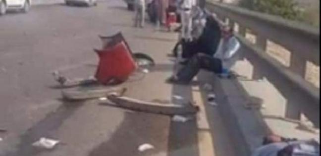أسماء ضحايا تصادم 3 سيارات أعلى كوبري طرة