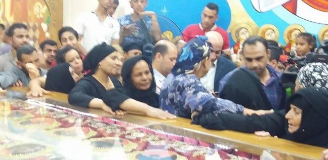 مطرانية سمالوط تحتفل بالذكرى الأولى لعودة رفات الأقباط الـ20 من ليبيا