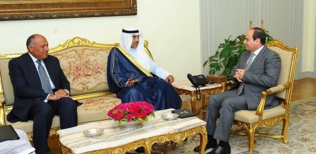 """""""الأزمة القطرية"""" على رأس مباحثات السيسي مع وزير الخارجية الكويتي"""