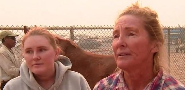 امرأة تنجوا من حداث اطلاق نار ليحترق منزلها بكاليفورنيا
