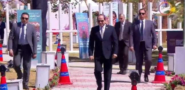 السيسي يستقبل رئيس مفوضية الاتحاد الأفريقي على هامش ملتقى الشباب