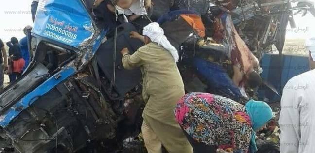 إصابة 6 أشخاص في حادث تصادم أمام مجلس الوزراء بالعلمين الجديدة