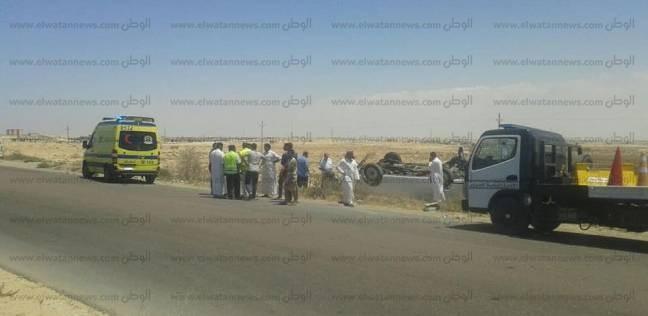 إصابة 6 أفراد شرطة وسائق في حادث تصادم بالشرقية