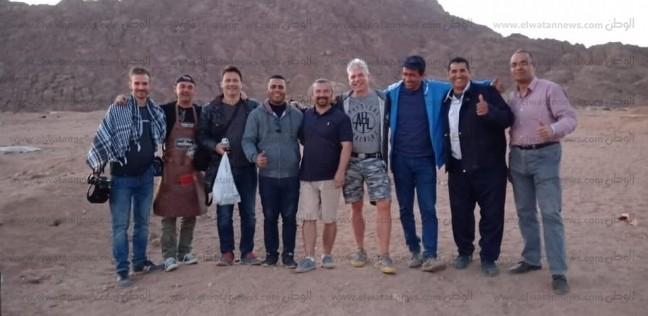 وفد إنتاج تليفزيوني مجري يصور المناطق السياحية في جنوب سيناء