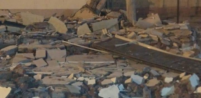 بالصور| انهيار سقف الصالة المغطاة المخصصة للمصارعة وسط الإسكندرية