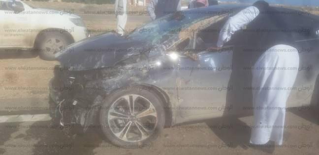 إصابة شخصين في انقلاب سيارة بالكيلو 125 بطريق مطروح