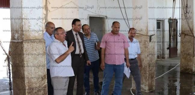 بالصور| السكرتير العام المساعد لكفر الشيخ يتفقد مجزر بلطيم