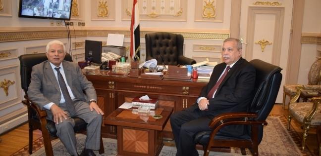 """المنشاوي يهنئ عصر برئاسة النقض.. ويستقبل """"مروان"""" في النيابة الإدارية"""
