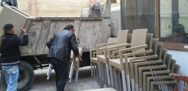 حملة لإزالة الإشغالات والتعديات على الطريق العام في جمرك الإسكندرية