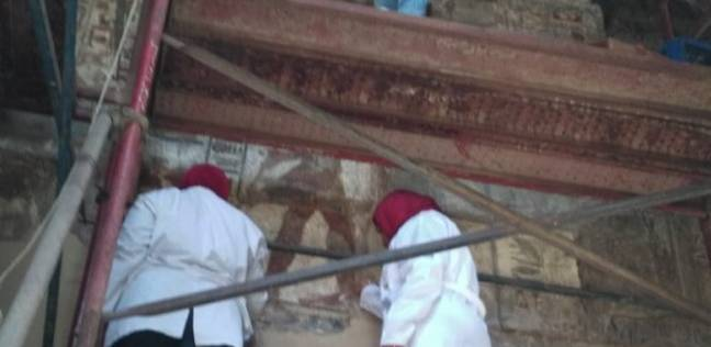 انتهاء أعمال ترميم نقوش ورسوم مقصورة الإسكندر الأكبر بمعبد الأقصر