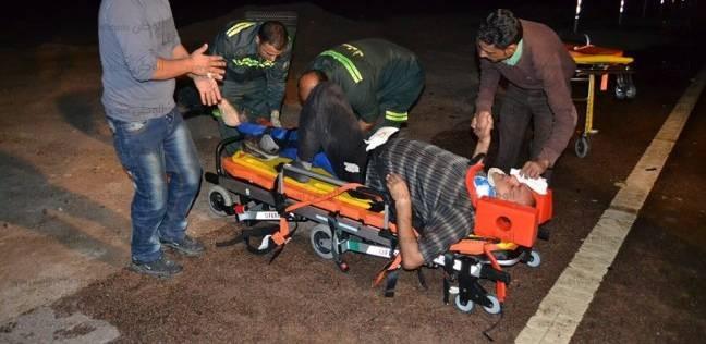 """إصابة 3 أشخاص في انقلاب سيارة على طريق """"أبو زنيمة - راس سدر"""""""
