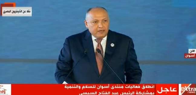 سامح شكري: قادرون على حماية مصالحنا بالبحر المتوسط ولن نقبل أي استفزاز