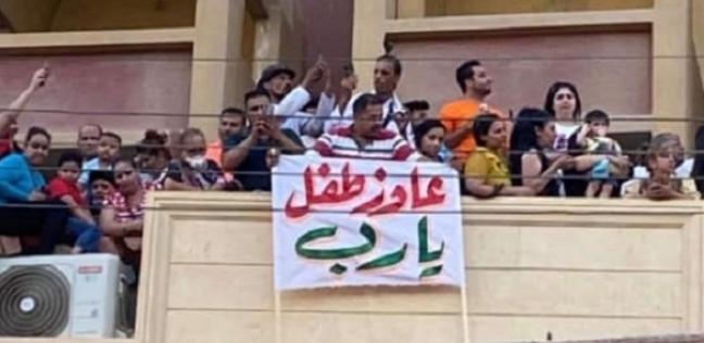 لافتة في موكب العذراء بدير درنكة