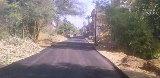 """محافظ الشرقية يتفقد أعمال رصف طريق """"قصاصين الأزهار-فريحة"""""""