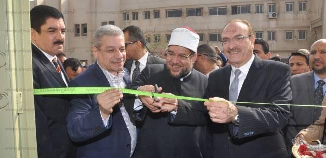 وزير الأوقاف يفتتح مسجدا وبعض المنشآت الطبية في جامعة بني سويف