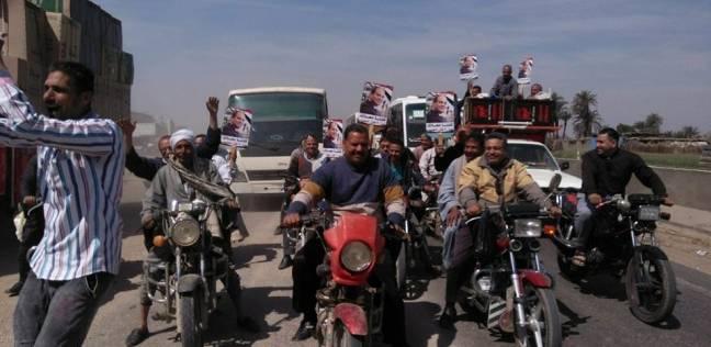 مسيرة بالدراجات البخارية في بني سويف للحث على المشاركة بالانتخابات