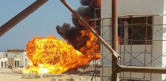 """""""نيابة السويس"""" تبدأ التحقيق في حريق خط غاز السخنة"""