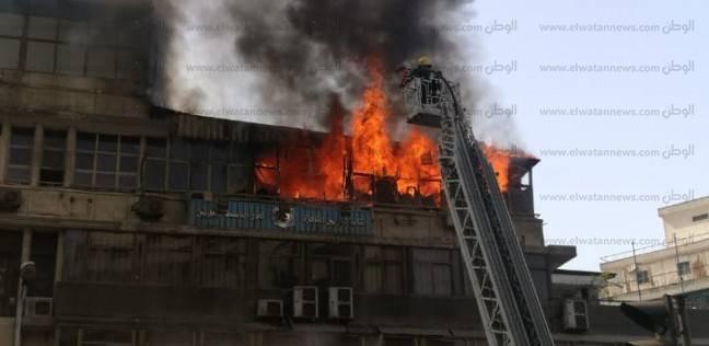 مصدر أمني: السيطرة على حريق نقابة التجاريين
