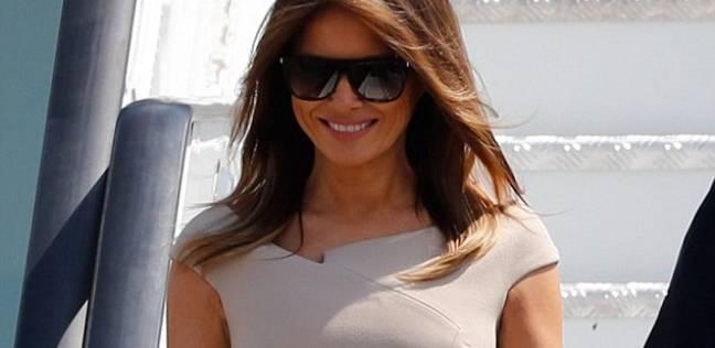 ميلانيا ترامب في فستان أنيق لمصمم فرنسي بـ1400 دولار فقط